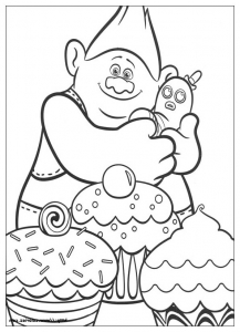 coloring-page-trolls-to-print