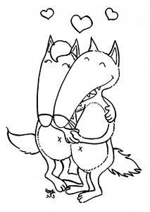 coloring-page-wolf-to-download-for-free