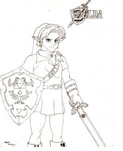 coloring-page-zelda-for-children