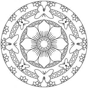 Mandala fleur 100 mandalas zen anti stress - Grand mandala ...