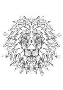 Lion 100 Mandalas Zen Anti Stress