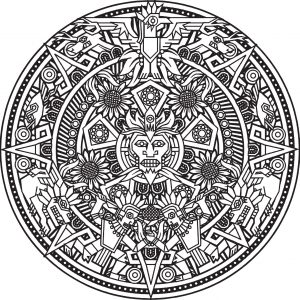 Mandala azteque par bigredlynx