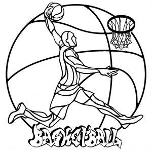 Mandala joueur de basketball