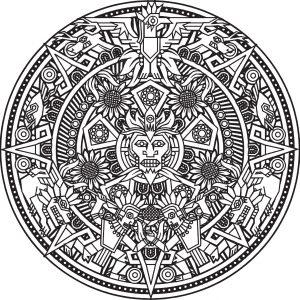 Mandala d un dieu incas ou maya par bigredlynx