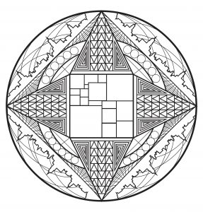 Coloriage Arbre Du Ciel.Arbre De Vie 100 Mandalas Zen Anti Stress