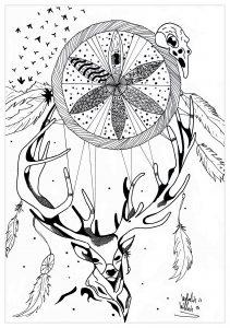 Oiseau 100 Mandalas Zen Anti Stress
