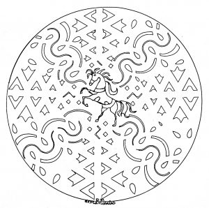 Mandala Cheval 100 Mandalas Zen Anti Stress