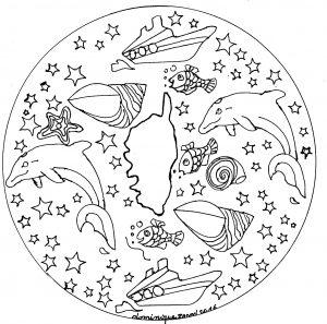 Coloriage Dauphin Mandala.Mandala Dauphin 100 Mandalas Zen Anti Stress