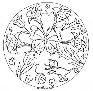 Coloriage Fleur Printemps A Imprimer.Mandalas Fleurs Et Vegetation 100 Mandalas Zen Anti Stress