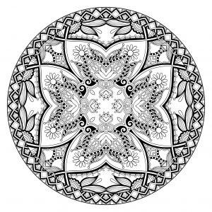 Coloriage mandala complexe par karakotsya 1