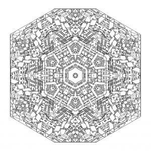 Arbre de vie 100 mandalas zen anti stress - Coloriage ville ...