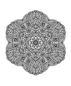 Mandala Tres Facile 100 Mandalas Zen Anti Stress
