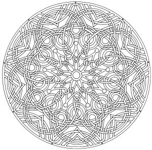 Coloriage de mandala zen et anti stress