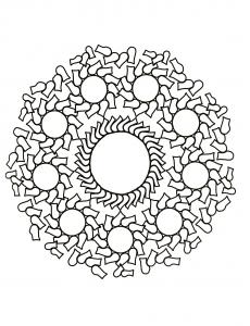 Coloriage mandala gratuit cercles et eclats
