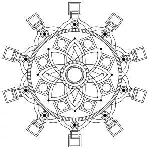 Mandala a imprimer mpc design 3