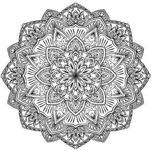Flower Mandala 100 Mandalas Zen Anti Stress