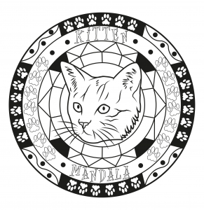 Cat Mandala 100 Mandalas Zen Anti Stress