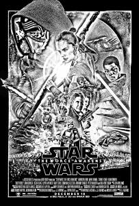 coloriage-adulte-affiche-star-wars-reveil-de-la-force