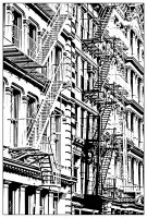 coloriage-adulte-architecture-soho-new-york