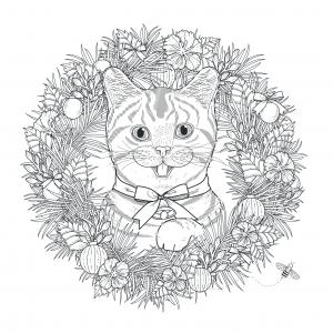 coloriage-adulte-mandala-chat-kchung