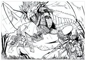 Dragon Ball Z Coloriages Difficiles Pour Adultes