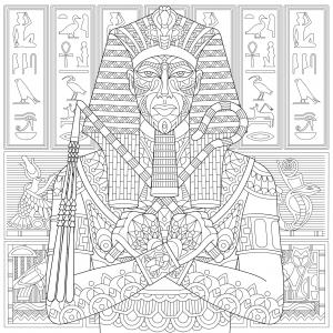 Coloriage A Imprimer Egypte Antique.Egypte Coloriages Difficiles Pour Adultes