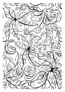 coloriage-adulte-feuilles