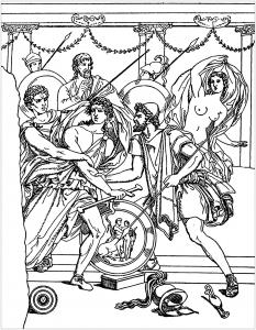 Coloriages d'Achille trouvés sur Skyros