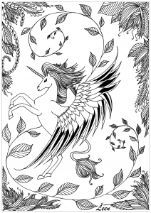 coloriage-leen-margot-licorne
