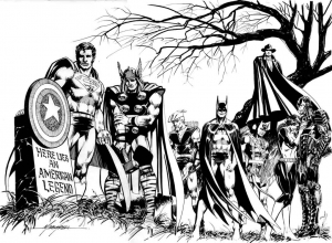 coloriage-adulte-avengers-captain-america