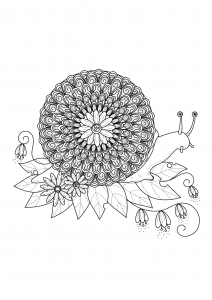 coloriage-adulte-escargot-mandala