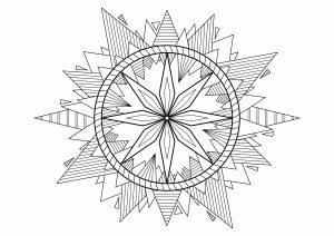 Mandala yin yang mandalas coloriages difficiles pour adultes - Coloriage sympa ...