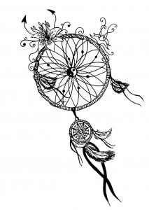 Mandala à télécharger et colorier les capteurs de rêves