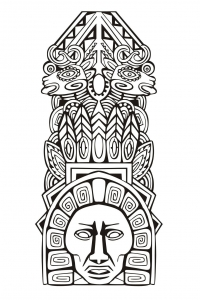 coloriage-adulte-totem-inspiration-inca-maya-azteque-5