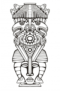 coloriage-adulte-totem-inspiration-inca-maya-azteque-6