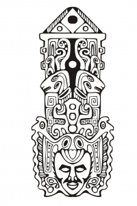 coloriage-adulte-totem-inspiration-inca-maya-azteque-7