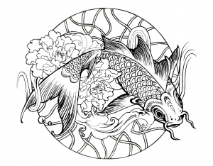 coloriage-poisson-carpe