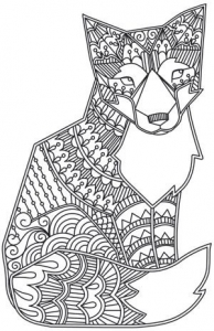 coloriage-adulte-animaux-renard