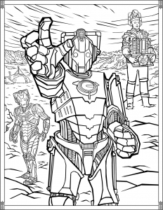Coloriage-Doctor-Who-Cybermen