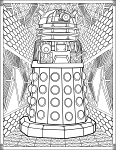 Coloriage-Doctor-Who-Dalek
