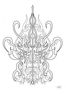 Main fatma tatouages coloriages difficiles pour adultes - Main de fatma dessin ...