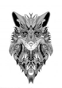 coloriage-zentangle-loup-krissy