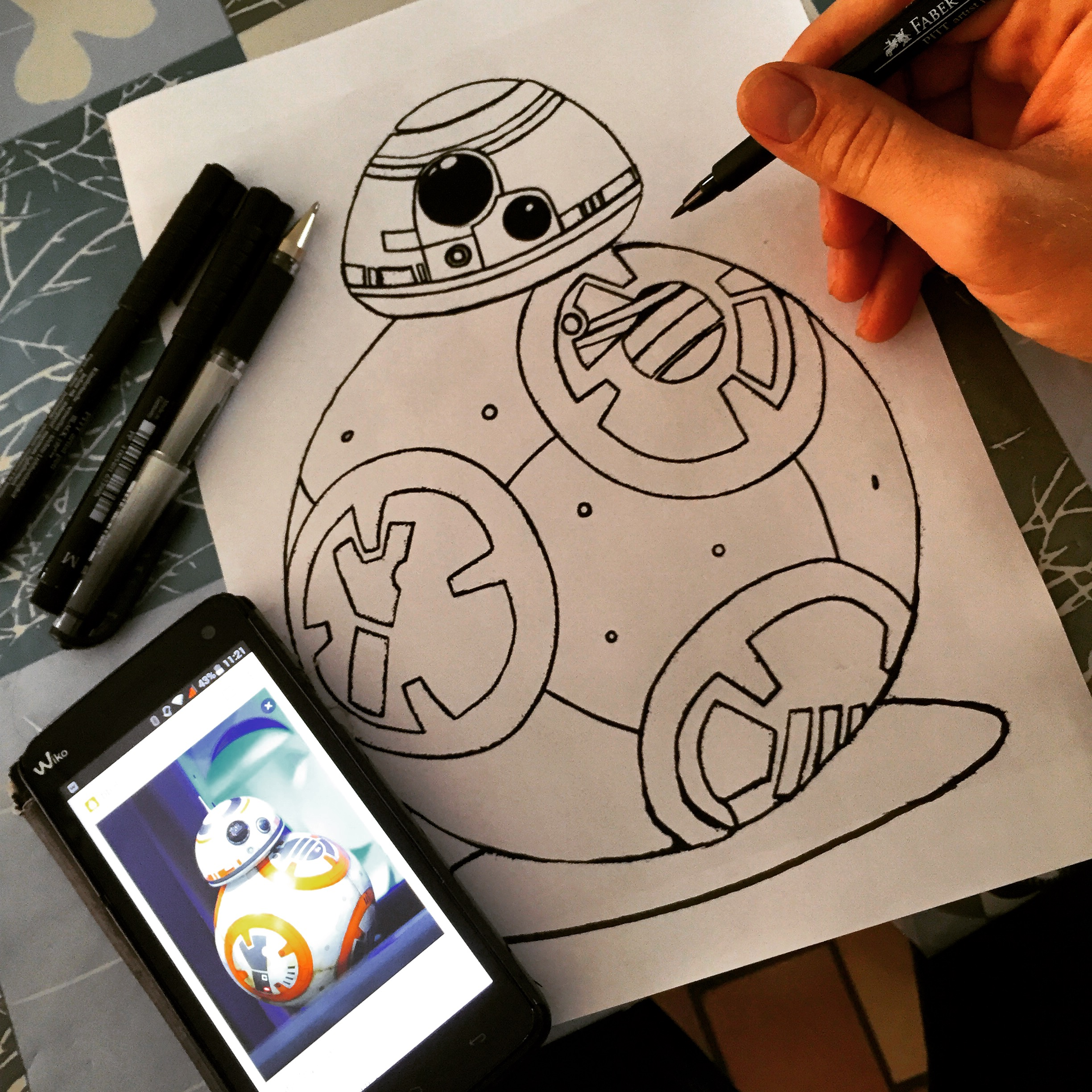 Bb 8 coloring pages - So It Is Not An Official Disney Lucasfilm Coloring But An Original Work So Not Necessarily Perfect Thank You For Your Indulgence