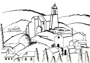 coloriage-gradanne-d-apres-cezanne-par-olivier-etape-2