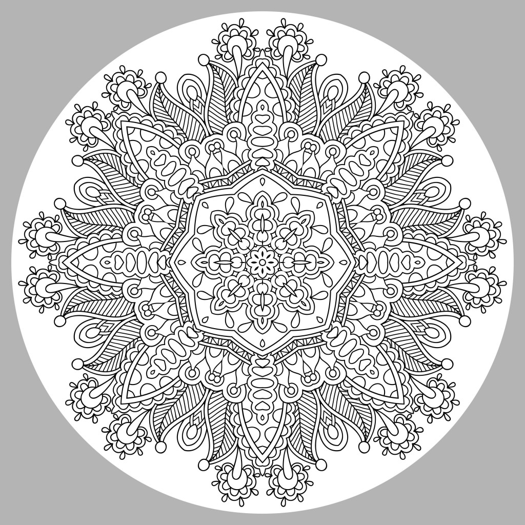 Very Harmonious Mandala to color
