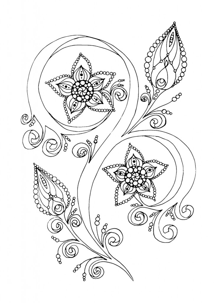15 new anti stress adult coloring pages inspired by - Zen coloriage ...