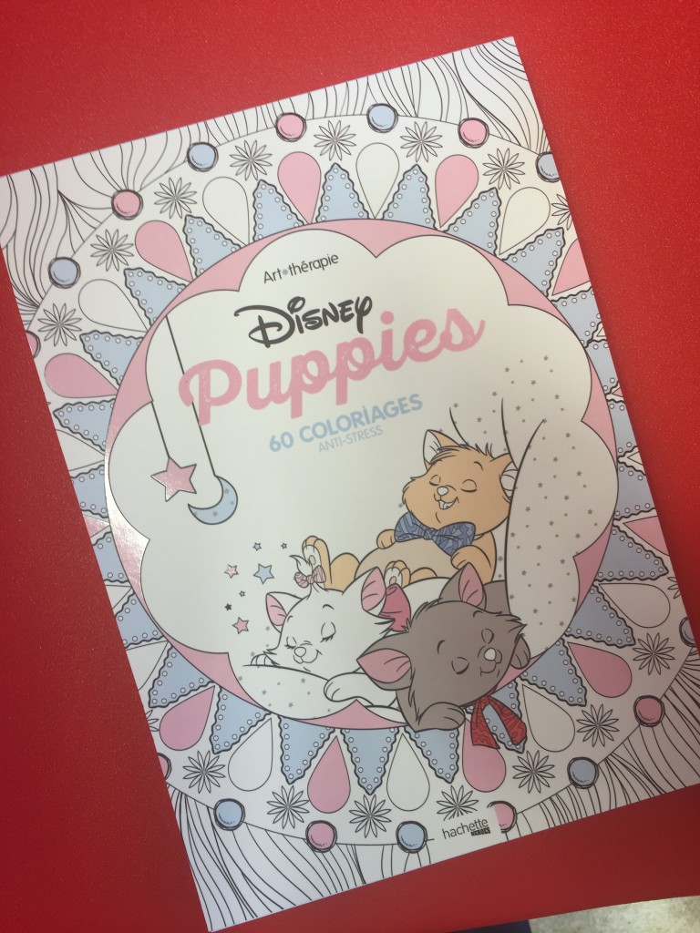 disney puppies coloring book cover