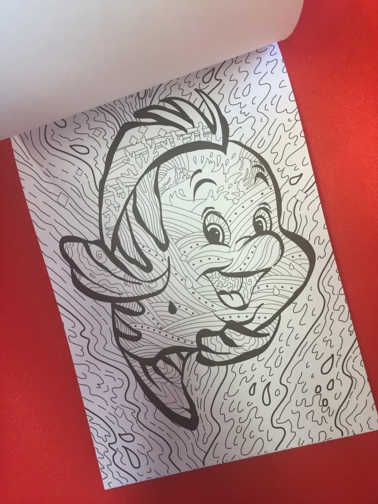 disney puppies coloring book : ariel fish