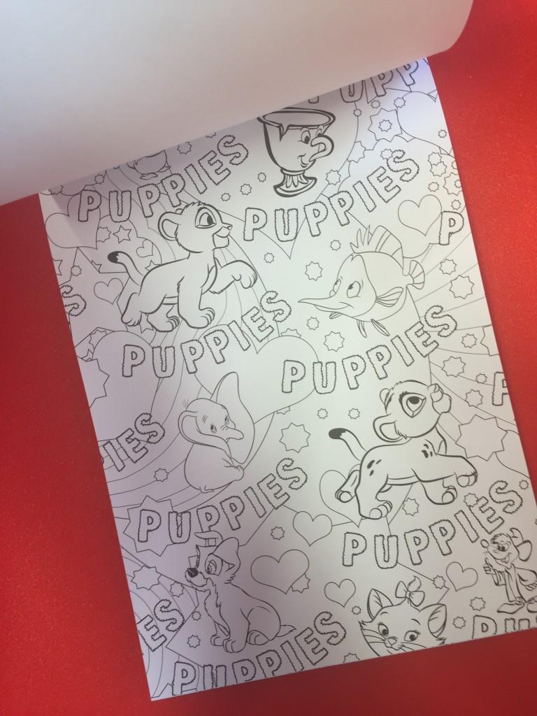 disney puppies coloring book