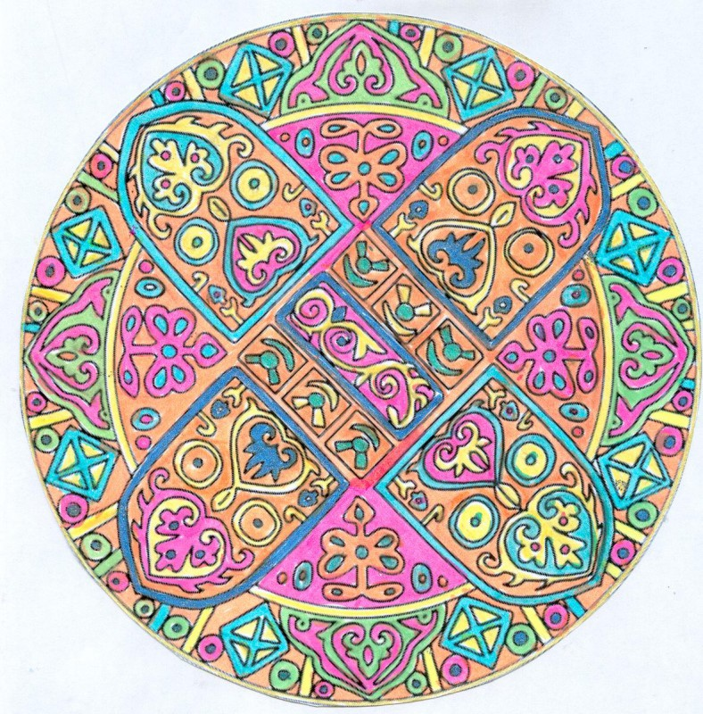 Mandala realised by Domandala who is an amateur artist and an enthusiastic user of the website.